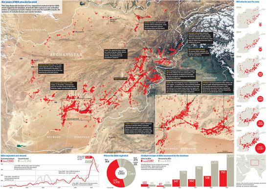 Figure 40. <em>The Wikileaks War Logs</em> (The Guardian)
