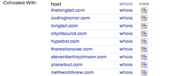 Figure 61. Spotting web spammers and scammers (Blekko.com)