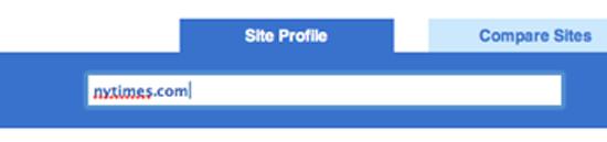 Figure 62. Compete.com's site profile service (Compete.com)